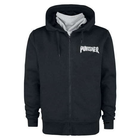 The Punisher - Skull - Hooded zip - black