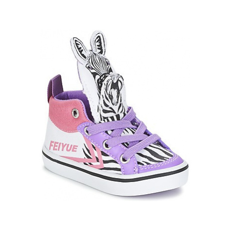 Feiyue DELTA MID ANIMAL girls's Children's Shoes (High-top Trainers) in Multicolour