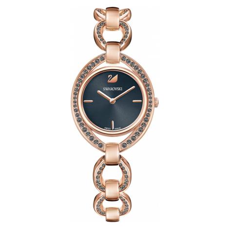 Stella Watch, Metal bracelet, Dark grey, Rose-gold tone PVD Swarovski