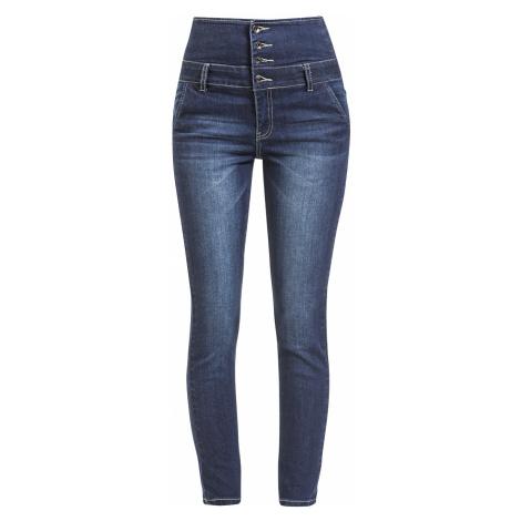 Forplay - High Waist Denim Jeans - Girls jeans - dark blue