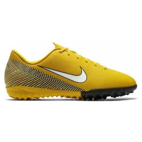 Nike VAPOR 12 ACADEMY GS TF JR yellow - Kids' turf football boots