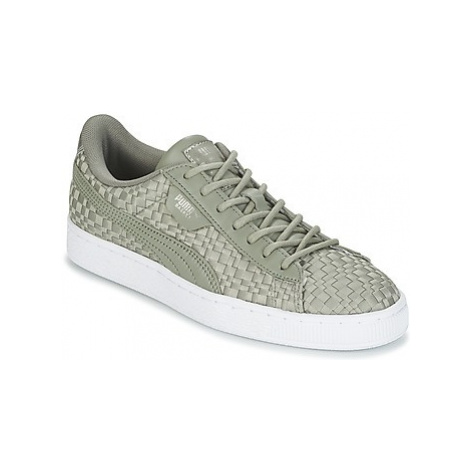 Puma BASKET SATIN EP WN'S women's Shoes (Trainers) in Grey