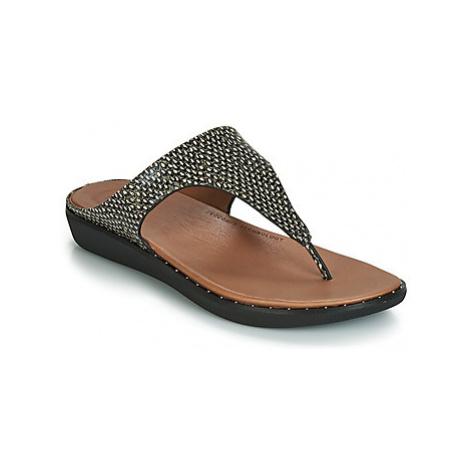 FitFlop BANDA II DOTTED-SNAKE women's Sandals in Black