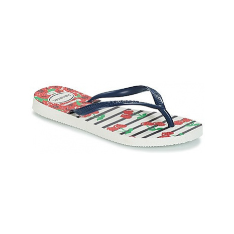Havaianas KIDS SLIM FASHION girls's Children's Flip flops / Sandals in White