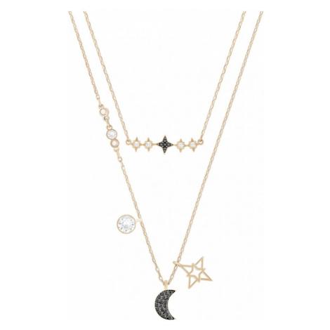 Ladies Swarovski Jewellery Glowing Layered Necklace 5273290