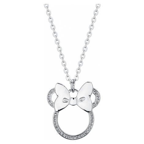 Mickey Mouse - Disney by Couture Kingdom - Minnie Outline Bow - Necklace - silver-coloured