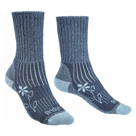 Bridgedale Womens Hike Midweight Merino Comfort Boot Socks-Blue-3 - 4.5