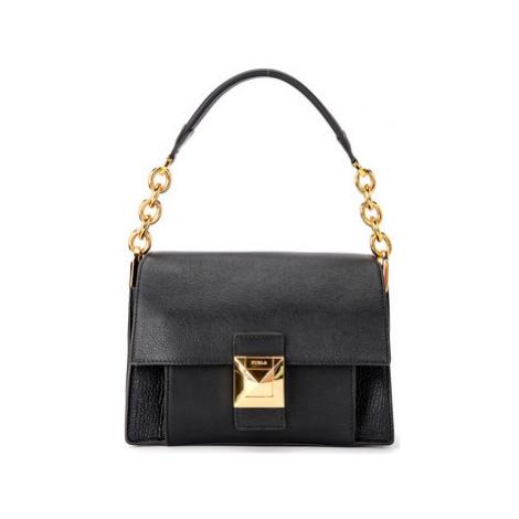 Furla Diva S mini shoulder bag in black leather women's Shoulder Bag in Black