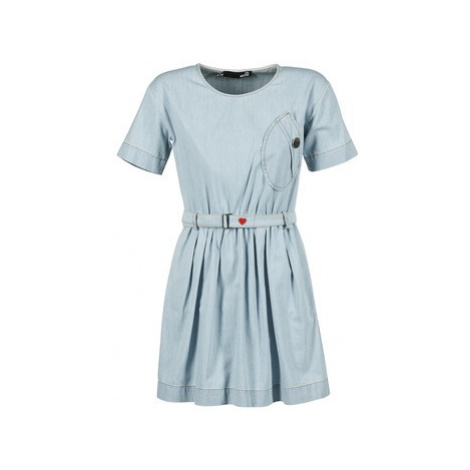 Love Moschino ASTERACE women's Dress in Blue