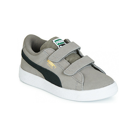 Puma PS SUEDE CLASSIC V.CHAR-BL boys's Children's Shoes (Trainers) in Grey