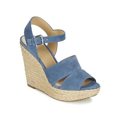 MICHAEL Michael Kors TAILOR WEDGE women's Sandals in Blue