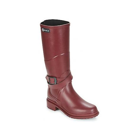 Aigle MACADAMES women's Wellington Boots in Red