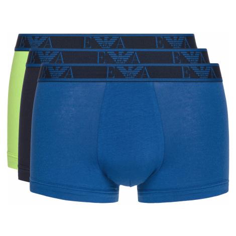 Emporio Armani Boxers 3 Piece Blue Green