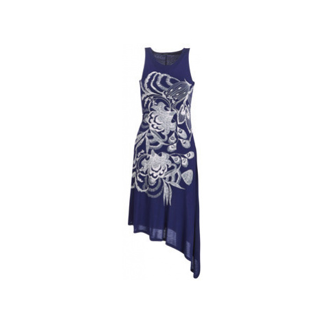 Desigual WAKIUT women's Long Dress in Blue