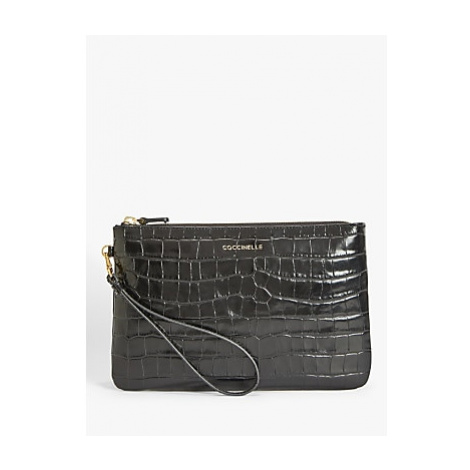 Coccinelle New Best Croc-Embossed Leather Pouchette