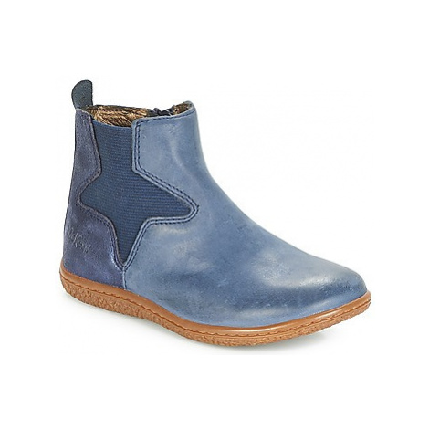 Kickers VERMILLON girls's Children's High Boots in Blue