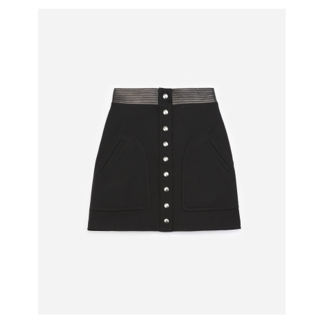 The Kooples - A-line short black skirt with pockets - WOMEN