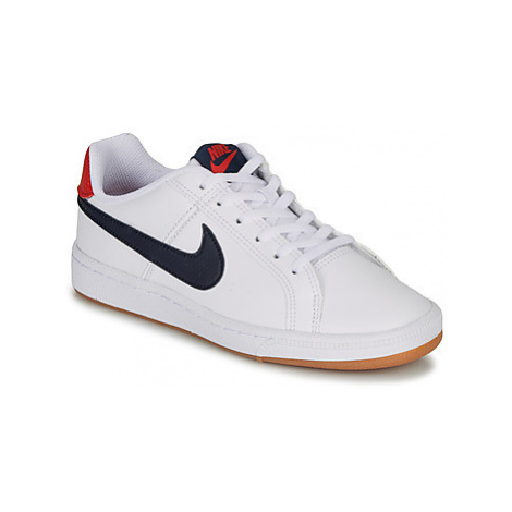 Nike COURT ROYALE GRADE SCHOOL girls's Children's Shoes (Trainers) in White