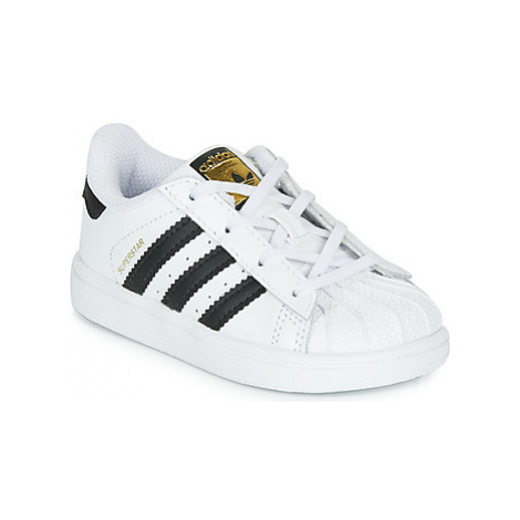 Adidas SUPERSTAR I girls's Children's Shoes (Trainers) in White
