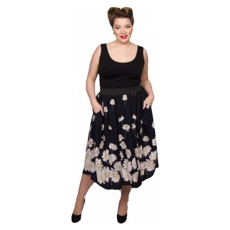 Dizzy Daisy Print Full Skirt - NVY/WT/YLLW Scarlett & Jo