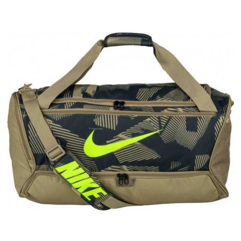 Nike BRASILIA DUFF - 9.0 AOP brown - Sports bag