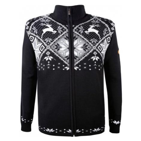 Kama MERINO SWEATER 4055 black - Full-zip knitted sweater
