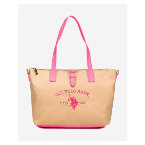Beige shopper bags