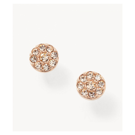 Fossil Women's Disc Rose-Tone Studs -Rose Gold