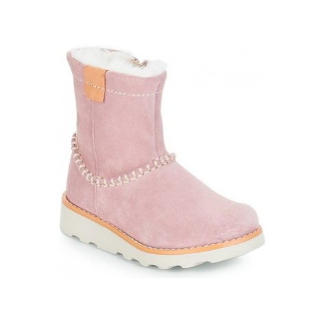 Clarks Crown Piper girls's Children's Mid Boots in Pink
