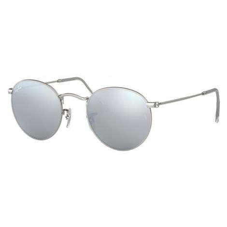 Ray-Ban Round flash lenses Unisex Sunglasses Lenses: Gray, Frame: Silver - RB3447 019/30 50-21