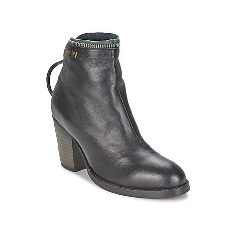 Superdry WALTHER women's Low Ankle Boots in Black