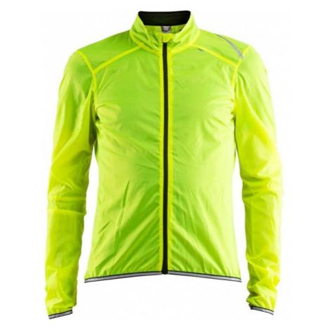 Craft LITHE JACKET yellow - Men's lightweight cycling jacket