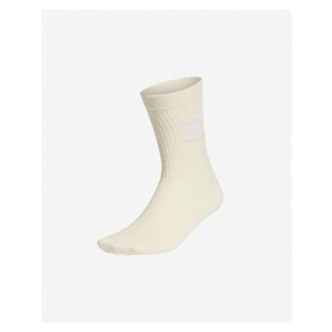adidas Originals No-Dye Cuff Crew Socks Beige