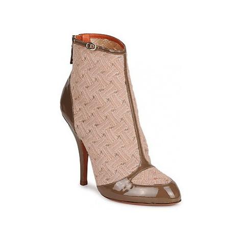Missoni LISCIA women's Low Ankle Boots in Beige