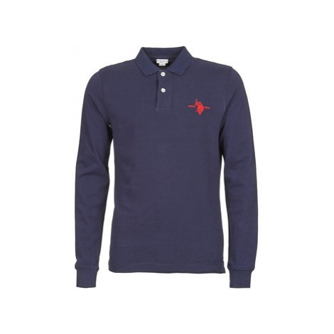 U.S Polo Assn. USA COLLAR men's Polo shirt in Blue U.S. Polo Assn
