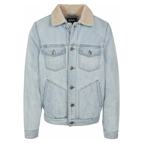 Urban Classics - Sherpa Lined Jeans Jacket - Jacket - light blue