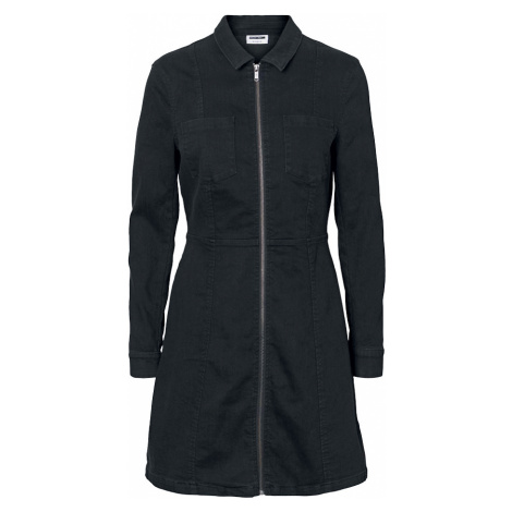 Noisy May - Lisa Denim Zip Dress - Dress - black