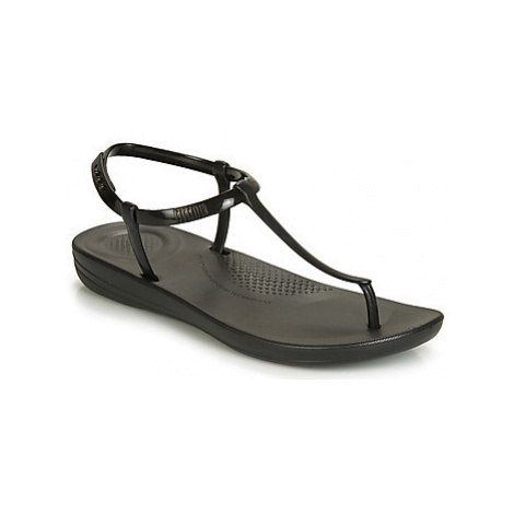 FitFlop IQUSHION SPLASH - PEARLISED women's Flip flops / Sandals (Shoes) in Black