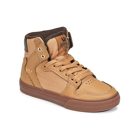 Supra KIDS VAIDER girls's Children's Shoes (High-top Trainers) in Brown