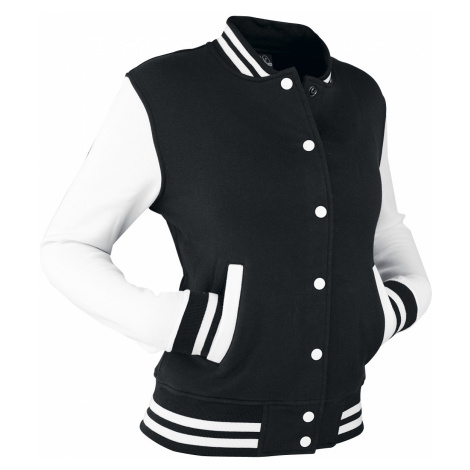 Urban Classics - 2-Tone College - Girls college jacket - black-white