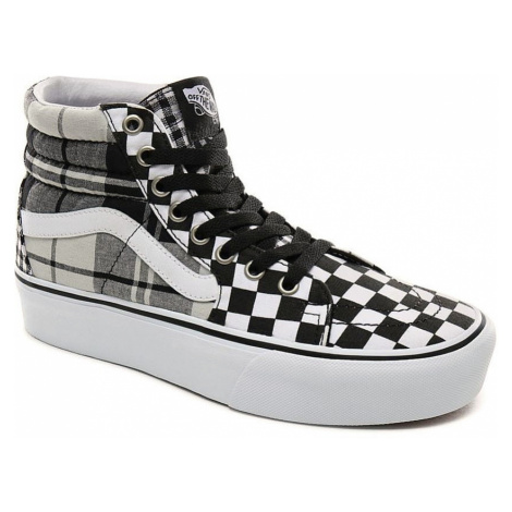 shoes Vans Sk8-Hi Platform 2 - Plaid Checkerboard/Black/True White