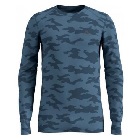 Odlo SHIRT L/S X-MAS ACTIVE WARM blue - Men's T-Shirt