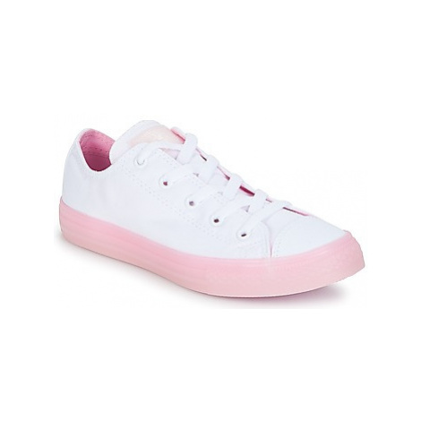 Converse Chuck Taylor All Star-Ox girls's Children's Shoes (Trainers) in White