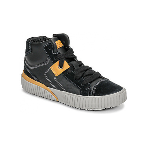 Geox J ALONISSO BOY boys's Children's Shoes (High-top Trainers) in Black