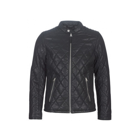 Tom Tailor JANET men's Leather jacket in Black