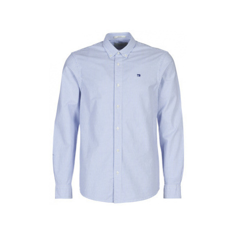 Scotch Soda NOS OXFORD SHIRT RELAXED FIT BUTTON DOWN COLLAR men's Long sleeved Shirt in Blue Scotch & Soda