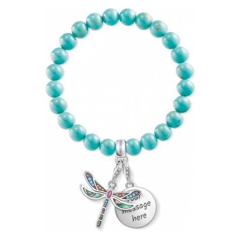 THOMAS SABO Engravable Silver Dragonfly Charm Bracelet