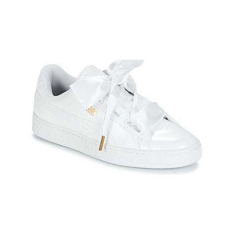 Puma BASKET HEART PATENT WN'S women's Shoes (Trainers) in White