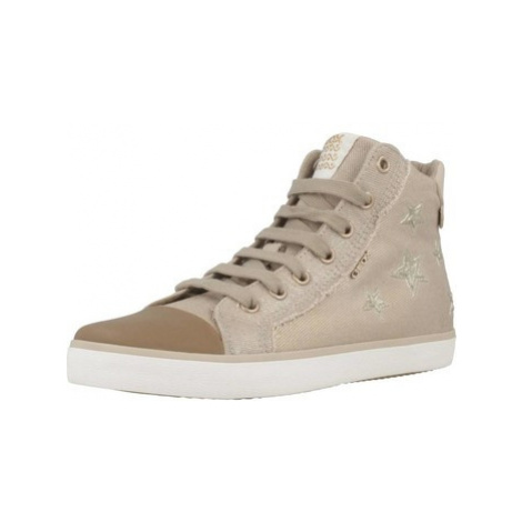 Geox J KILWI G. C girls's Children's Shoes (High-top Trainers) in Brown