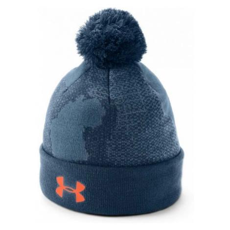 Under Armour BOY'S POM BEANIE UPD blue - Kids' winter hat